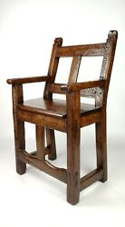 A Late 17th - Early 18th Century Spanish Arm Chair.