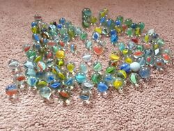 Joblot Of Old 115 Vintage Marbles Rare Styles Pontin Marks Stunning Unique