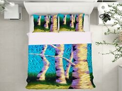 3d White Tree Trunk 1453na Bed Pillowcases Quilt Cover Duvet Dena Tollefson Fay