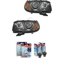 Xenon Headlight Set For Bmw Series X3 Year 04-06 With Indicator Yellow D2s+h7