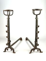 A Large Pair Of 16th Century Gothic Fire-dogs.