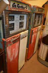 Your Pick Of The 2 Wayne 505 D Gas Pump Mid 1950s Unrestored Go Farther Glass