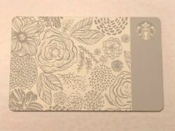 Rare 2015 Limited Ed Mother's Day Ceramic Etched Starbucks Gift Card 0 Balance