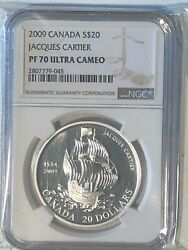 Canada 2009 20 Pf70 Ultra Cameo Coin - Jacques