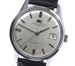 Wristwatch Schaffhausen Antique Date Men's Used Silver Cal.8541b Automatic