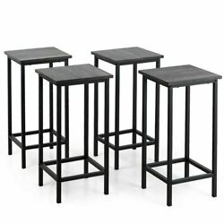 Modern 4pc Bar Stools 24 Counter Height Backless W/metal Frame