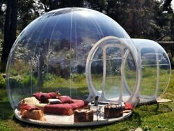 Inflatable Bubble Tent House Dome Outdoor Camping Clear Show Room With 1 Tunnel