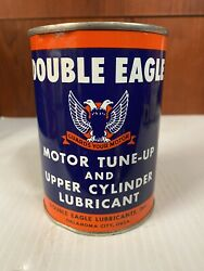 Vintage Double Eagle Motor Oil Can 15oz Tin Can Motor Cylinder Tune Up Lubricant