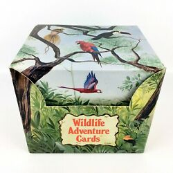 Grolier Wildlife Adventure Cards 250 Some Sealed With Box And Guide