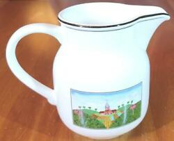 Villeroy And Boch Design Naif 16 Oz Pitcher Farmer And Mule Excellent Condition