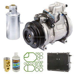For Mercedes 400sel 1993 A/c Kit W/ Ac Compressor Condenser And Drier Gap