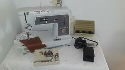 Singer 600e Vintage Touch Sew Zig Zag Sewing Machine+pedal Bundle Works T008p2