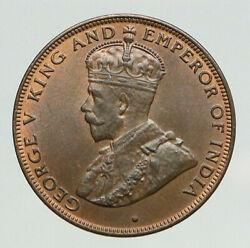1933 Hong Kong British Colony King George V Anitque Vintage Old Cent Coin I93089