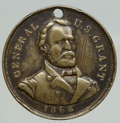 1868 United States Usa Presidential Ulysees S Grant Campaign Token Medal I93075