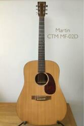 Martin And Co Acoustic Guitar Ctm Mf-02d Limited Model Used Rare Genuine Hard Case