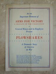 General Motors Gm Dayton Ohio Plowshares Arms For Victory Program Wwii Ww2