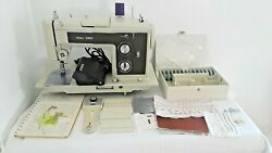 Vtg Sears/kenmore 158.1756 Sewing Machine+foot Pedal Cams Buttonholer+ T005p2
