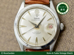 Tudor Oyster Date Big Rose Ref.7966 Vintage Ss Automatic Mens Watch