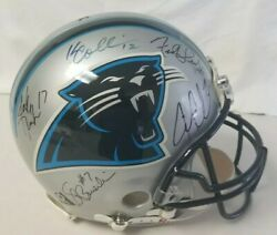 Carolina Panthers Helmet All Qb1's In Franchise History, Reich, Delhomme, Newton