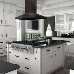 Island Mount Range Hood 30 Inch Touch Control Black Stainless Steel