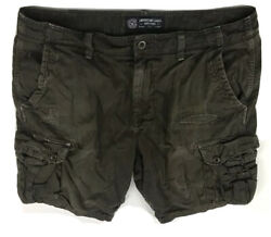 American Eagle Cargo Distressed Ripped Brown Shorts Mens Size 36 Classic Fit