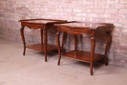 Minton-spidell French Provincial Louis Xv Nightstands Pair