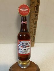 Budweiser Limited Edition Glass Bottle Draft Beer Tap Handle. St. Louis,missouri