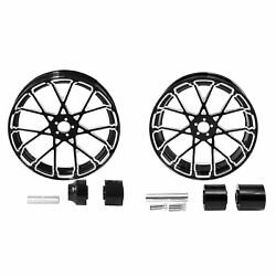 18'' Front And Rear Wheel Rims W/ Hub Fit For Harley Touring Street Glide 08-21 Us