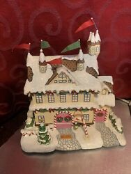 5 Houses / Buildings 2003 Rudolph's Christmas Town Collection Hawthorne Village