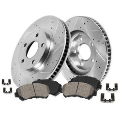 For B_mw 323 325 328 Z3 Z4 Front Drill Slot Brake Rotors And Ceramic Pads