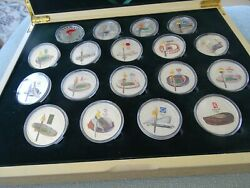 2008 Beijing Olympic Silver Set Of 16 Medals Extremely Rare Outside China