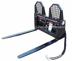 New 48 Hydraulic Pallet Forks And Frame Attachment Kubota Terex Skid Steer Loader
