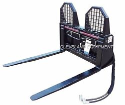 New Hydraulic Pallet Forks And Frame Attachment John Deere Kubota Mahindra Tractor