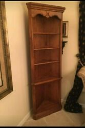 Ethan Allen Wall Unit Corner Cabinet Shelf Bookcase 26-9325 Country French