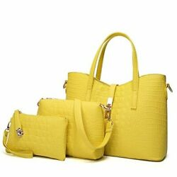 Satchel Purses and Handbags for Women Shoulder Tote Bags 3 3 Yellow Gift $55.84