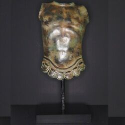 Large Grand Tour Style Roman Solder Bronze Lifesize Armors On The Stand
