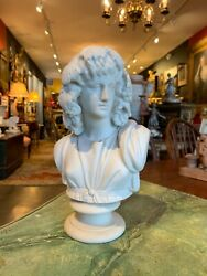 Late 19th Century Classical Parian Porcelain Young Male Bust