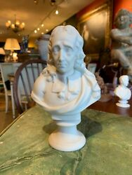 Early 20th Century Parian Porcelain Classical Bust Of English Writer John Milton