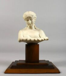 19th Century Classical Parian Figurine Bust Of Townleyandacutes Clutie On The Pedestal
