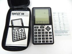 5a Sportyand039s E6b Electronic Flight Computer W/ Case Instructions Ref Card Works