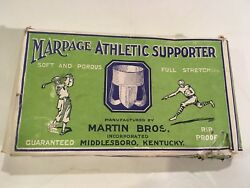 Antique Pre 1920 Graphic Box With Golf And Football Leather Helmet