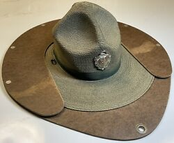 Stratton Green Straw Security Police Hat 1928 Republican Convention Kansas City