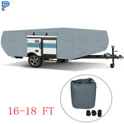 For Folding Pop Up Trailer Rv Cover Fits 16 To18 Ft Grey 16 17 18