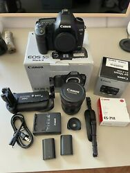 Mint Canon 5d Mark Ii With Accessories Bundle Lot