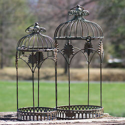 Sets Of Vintage Style Bird Cage Planters