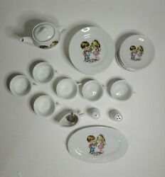 Vintage Childs Tea Set 1940-50 Made In Japan Boy And Girl 22 Pieces