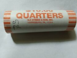 2009-p Puerto Rico U.s. Territories Quarters Bank Wraped Roll Head And Tail