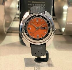 Vintage Technos Automatic Skydiver 1000m Stainless Steel Diverand039s Watch Certina