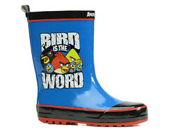 Robust Waterproof Rainboots Rubber Boots Boys Blue Shoes Angry Birds G13