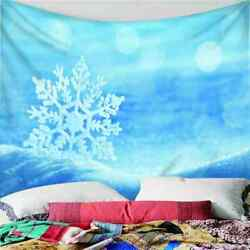 White Nice Snowflakes 3d Wall Hang Cloth Tapestry Fabric Decorations Decor
